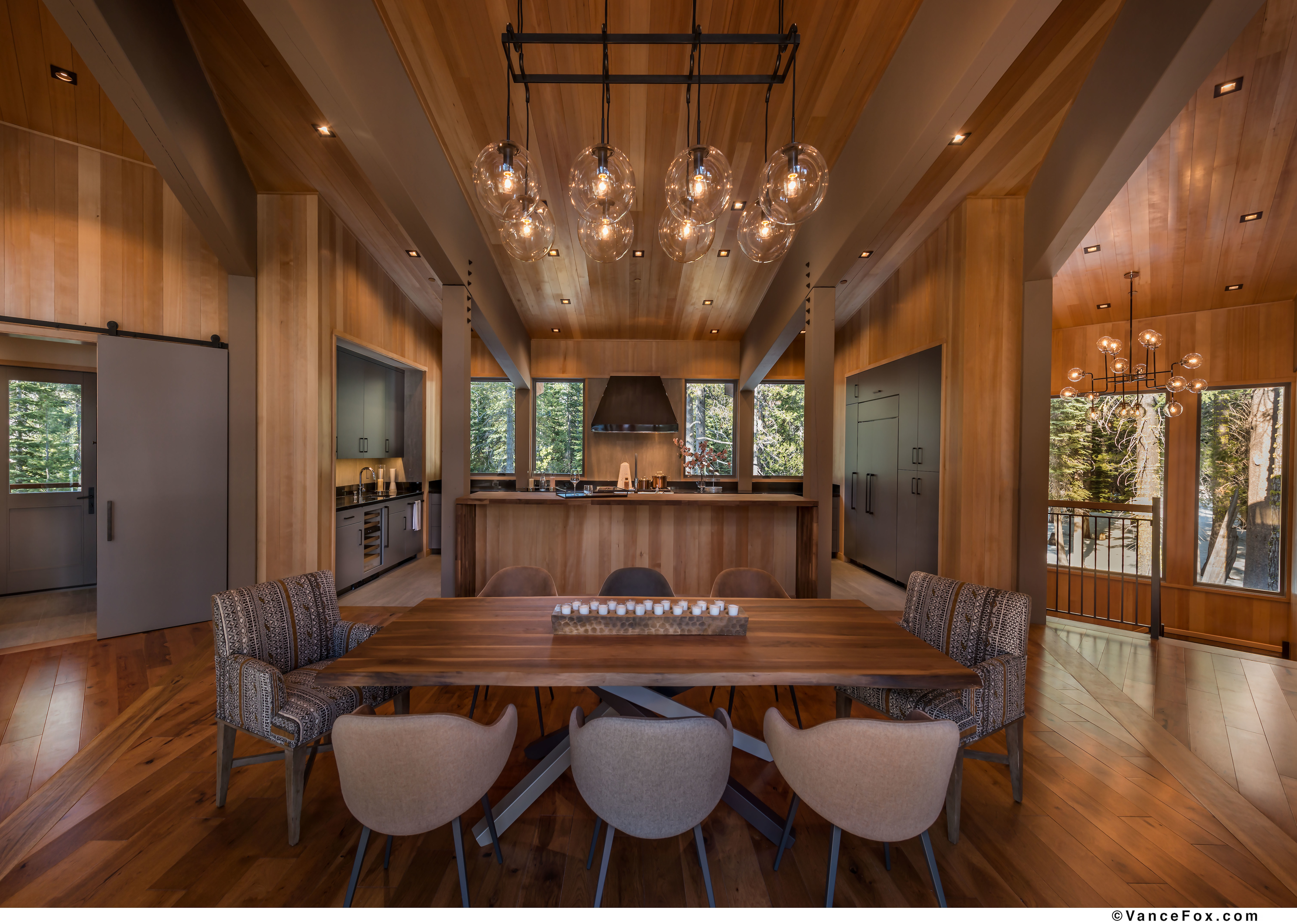 Image of a modern dining space inside 5710 Tiger Lily in Sugarbowl.